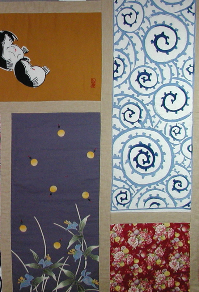 Japanese Panels Quilt-a quilt commission