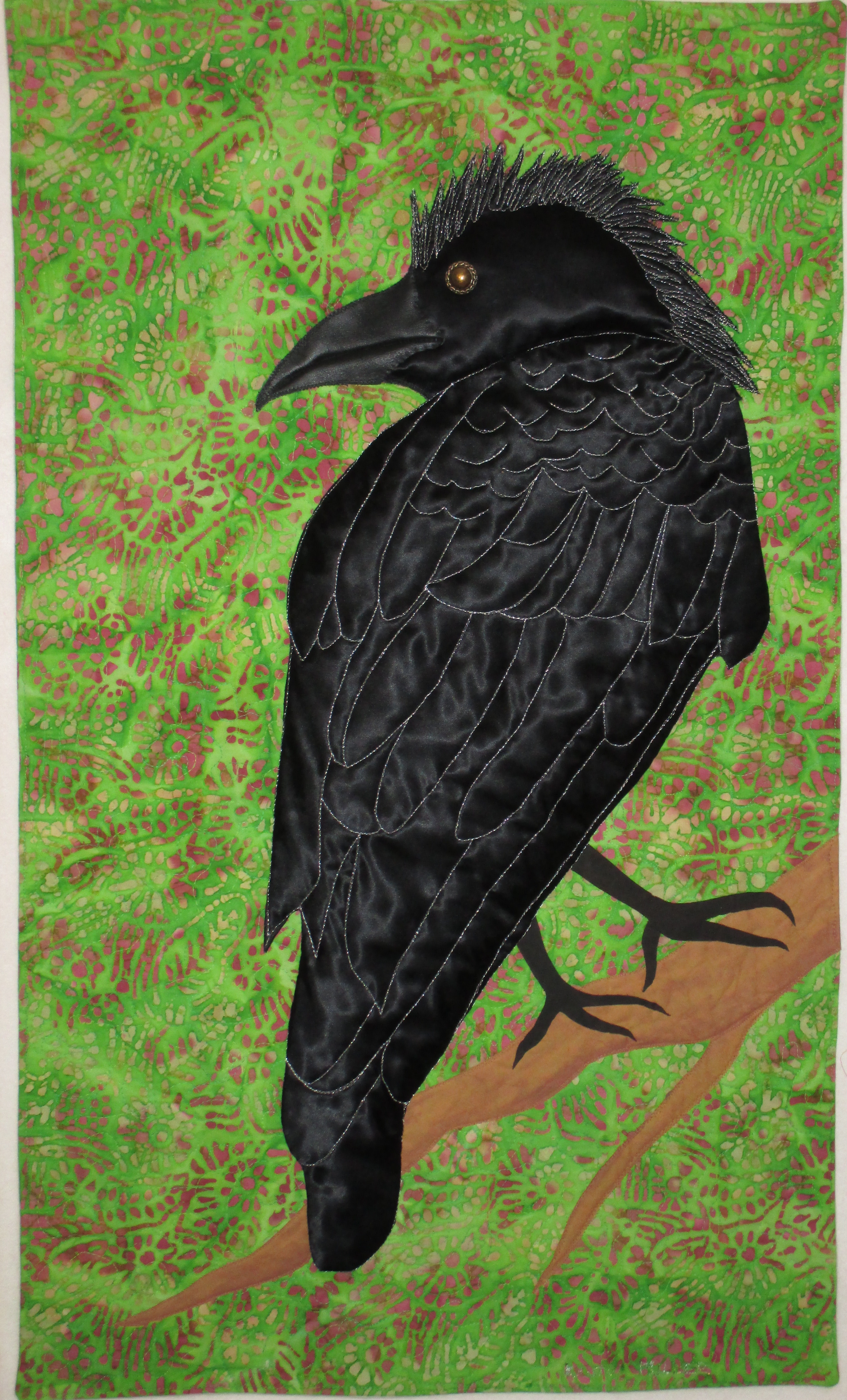 Crow with Mohawk wallhanging
